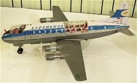 1 Blechflugzeug Marke Tomy, Made in Japan, Lufthansa GK