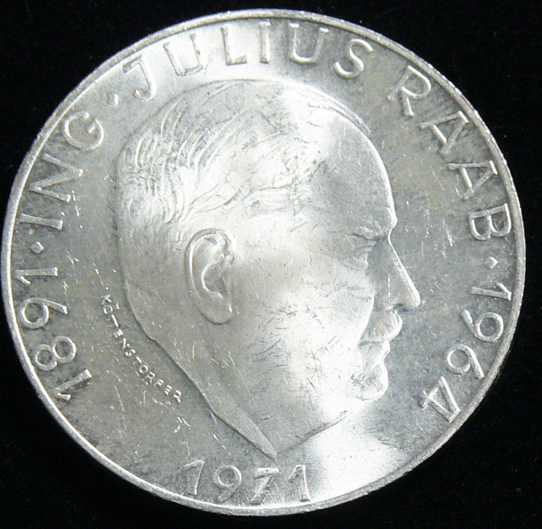 """Österreich 1971, 50 Schilling- Silbermünze """"Ing. Julius"""