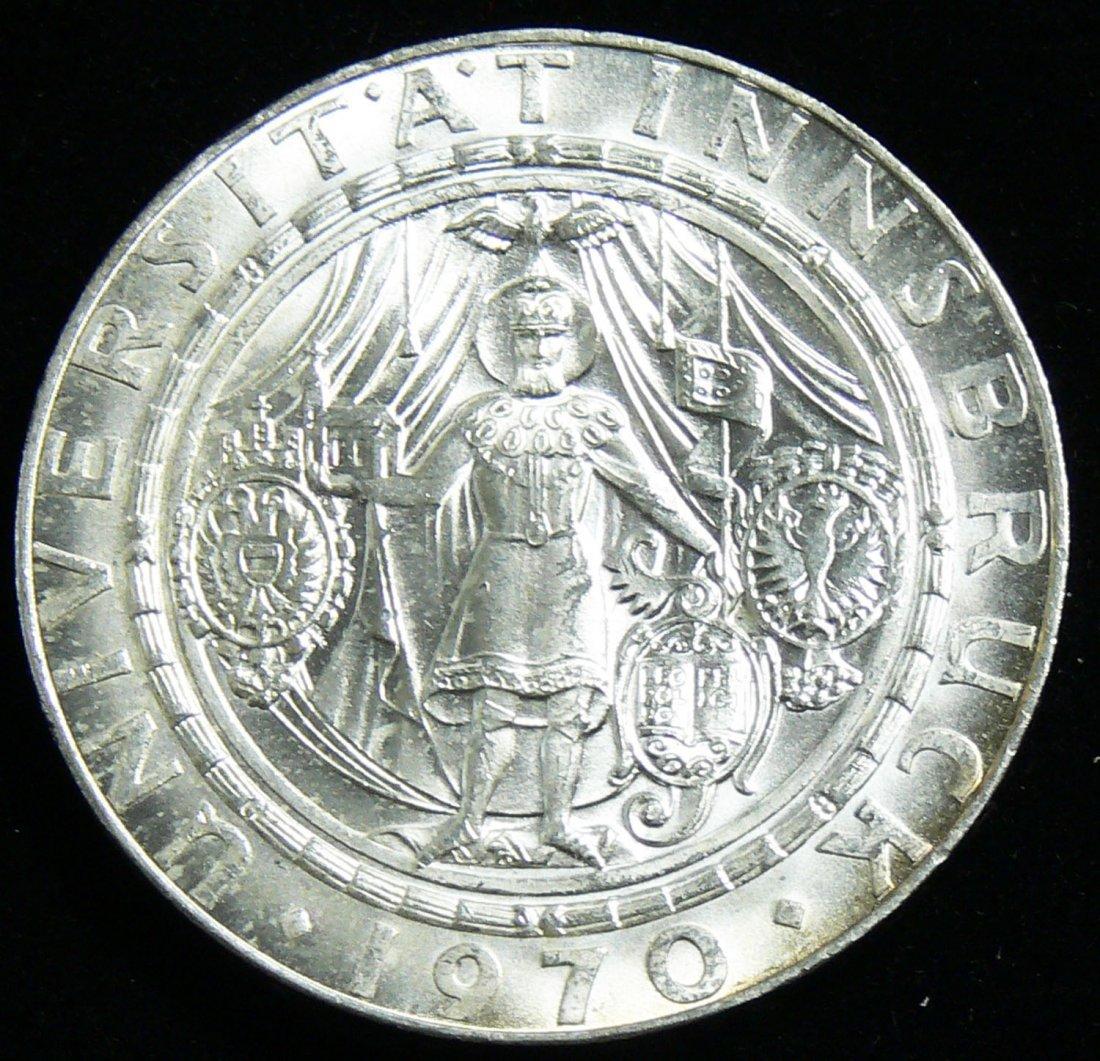 """Österreich 1970, 50 Schilling- Silbermünze, """"300 Jahre"""