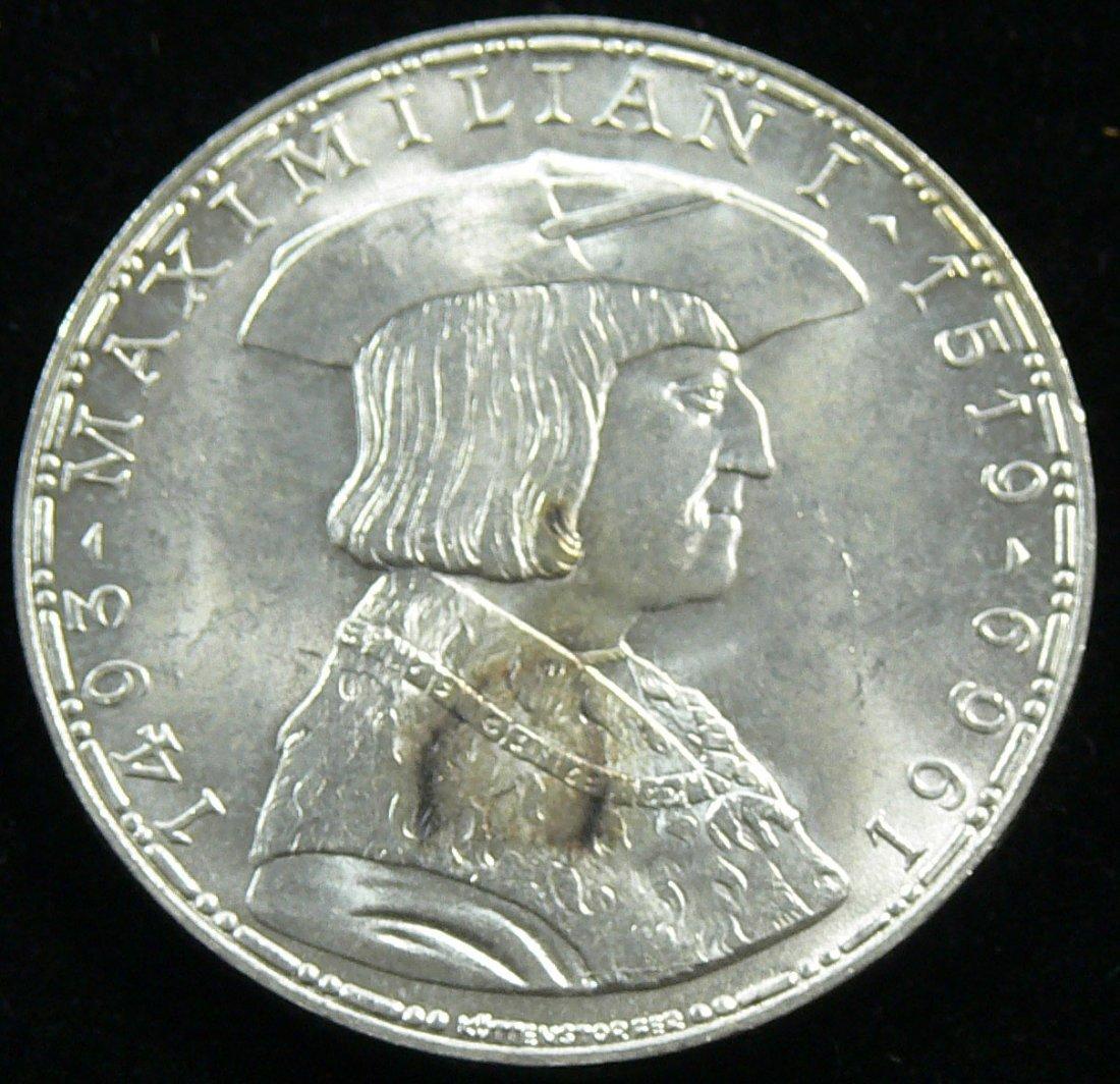 """Österreich 1969, 50 Schilling- Silbermünze, """"Maximilian"""
