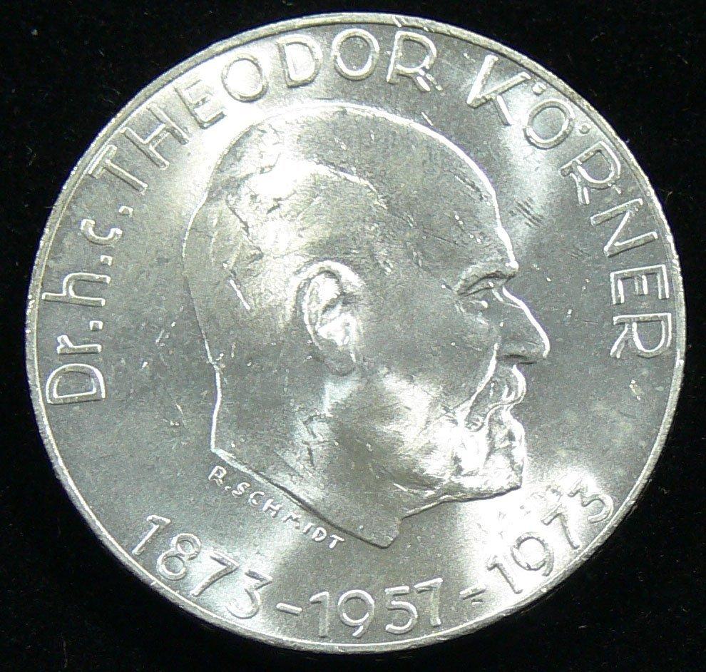 """Österreich 1973, 50 Schilling-Silbermünze, """"Dr. h.c. Th"""