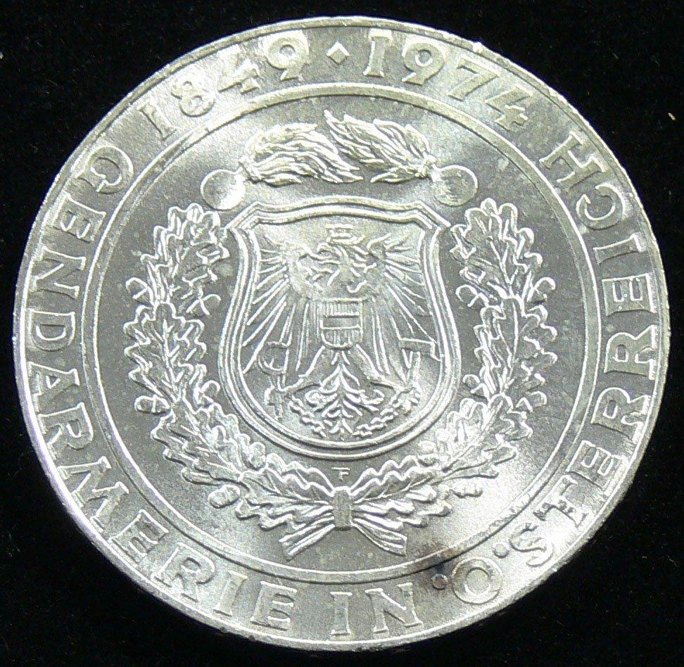"""Österreich 1974, 50 Schilling-Silbermünze, """"125 Jahre G"""