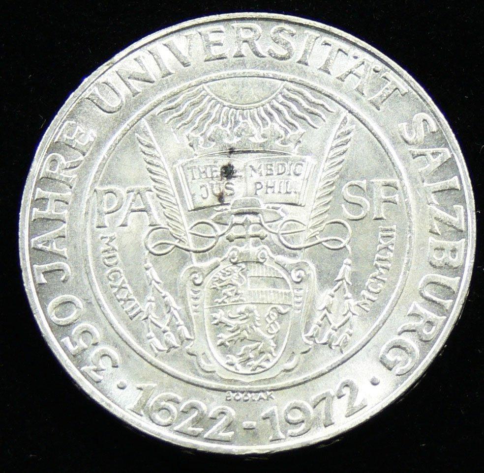 """Österreich 1972, 50 Schilling-Silbermünze, """"350 Jahre U"""