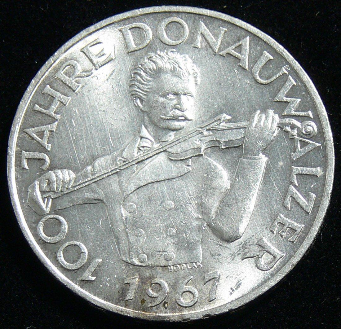 """Österreich 1967, 50 Schilling-Silbermünze, """"100 Jahre D"""