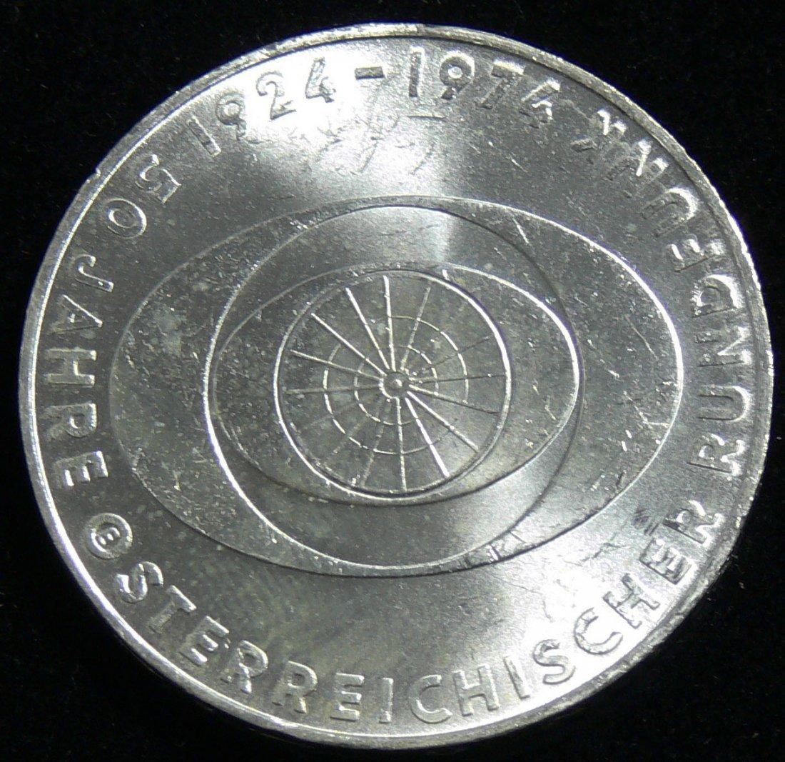 """Österreich 1974, 50 Schilling-Silbermünze, """"50 Jahre Ös"""