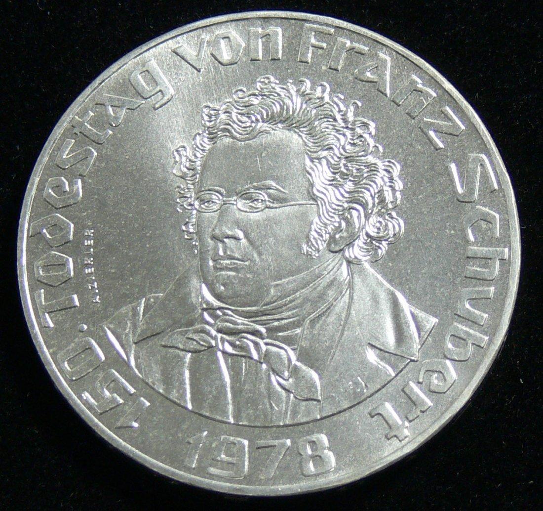 """Österreich 1978, 50 Schilling-Silbermünze, """"150. Todest"""