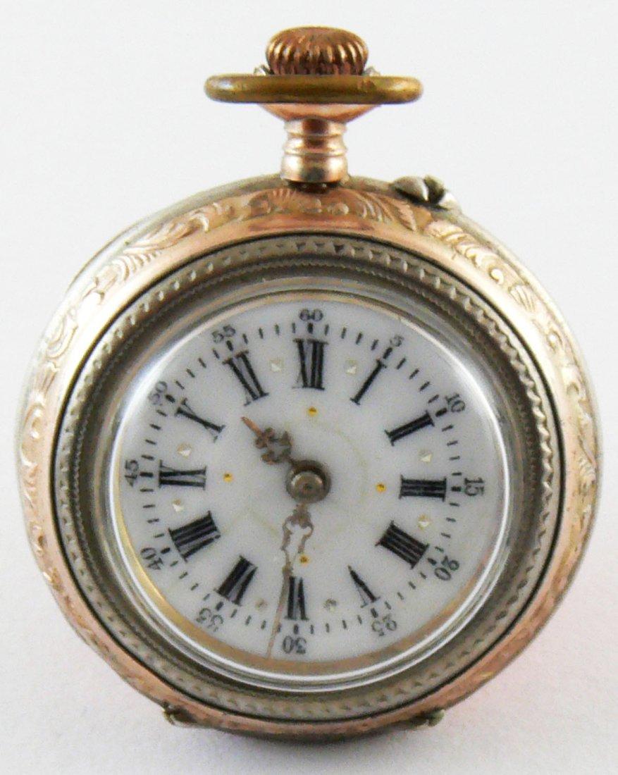 Damentaschenuhr 800er Silber. Ca. 1880 - 1900. Remontoi