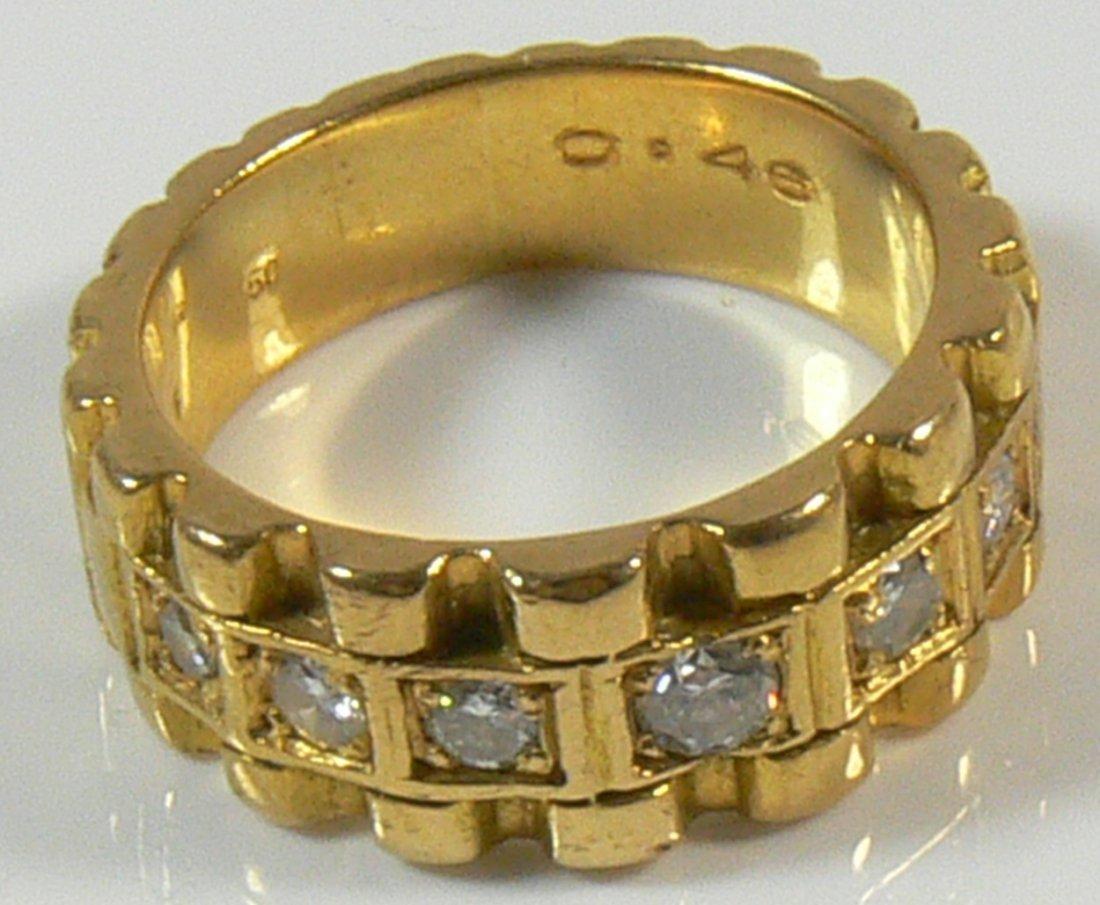 Damen-Ring, 750er Gold, 9 g, mit Brillianten, ca. 0