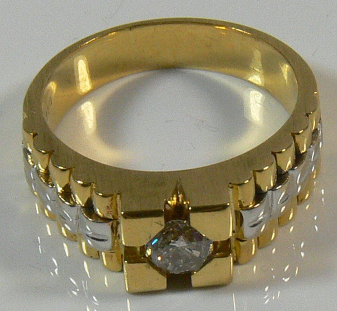 Herren-Ring, 750er Gold, 14,9 g, mit Brillianten, c