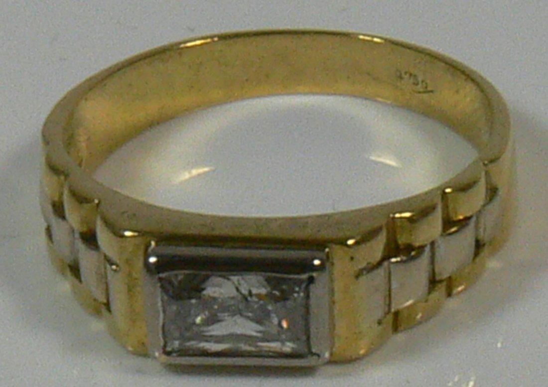 Damen- oder Herren-Ring, 750er Gold, 5,5 g, mit Bri