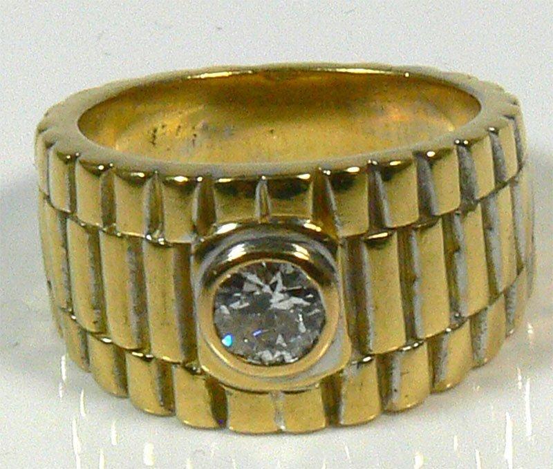 Herren-Ring, 750er Gold, 23,8 g, mit Brillianten, c