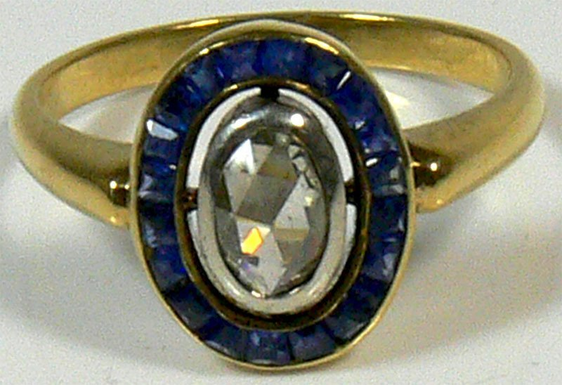 Damen-Ring, 585er Gold, 4,8 g, mit Diamanten im Alt