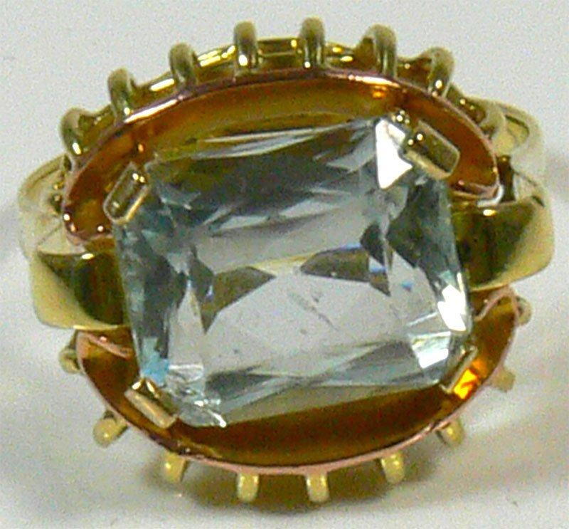 Damen-Ring, 585er Gold, 5,2 g, mit Aquamarin. Ringg