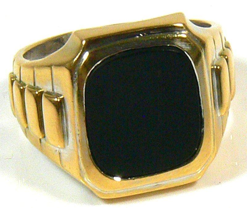 Herren-Ring, 750er Gold, 24,4 g, mit Onyx. Ringgröß