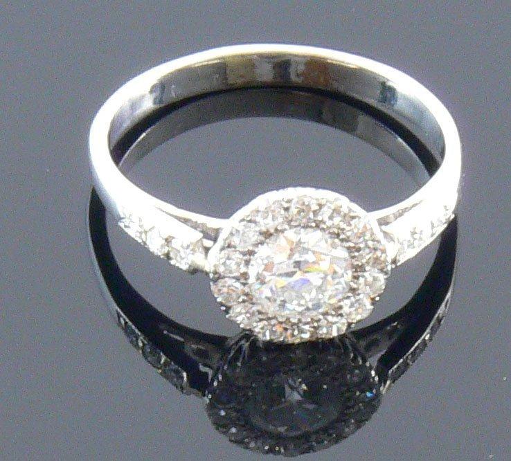 Damen - Ring, Brilliantring, Platin, 1 großer Mitte