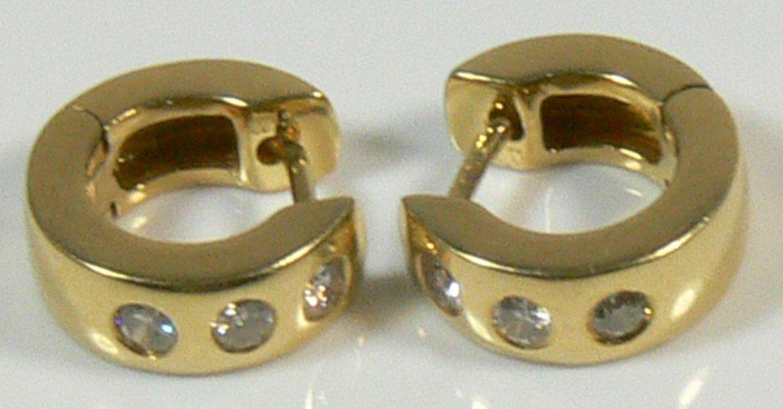 Ohrringe aus 585er Gelbgold, mit Brillant ca. 0,30c
