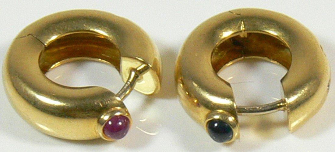 Ohrringe aus 750er Gelbgold 18 ct., mit Brillant, 1
