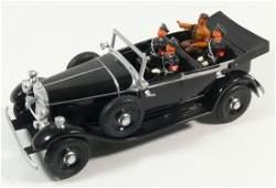 Tippco Mercedes Führerwagen mit Hitler und drei SS -