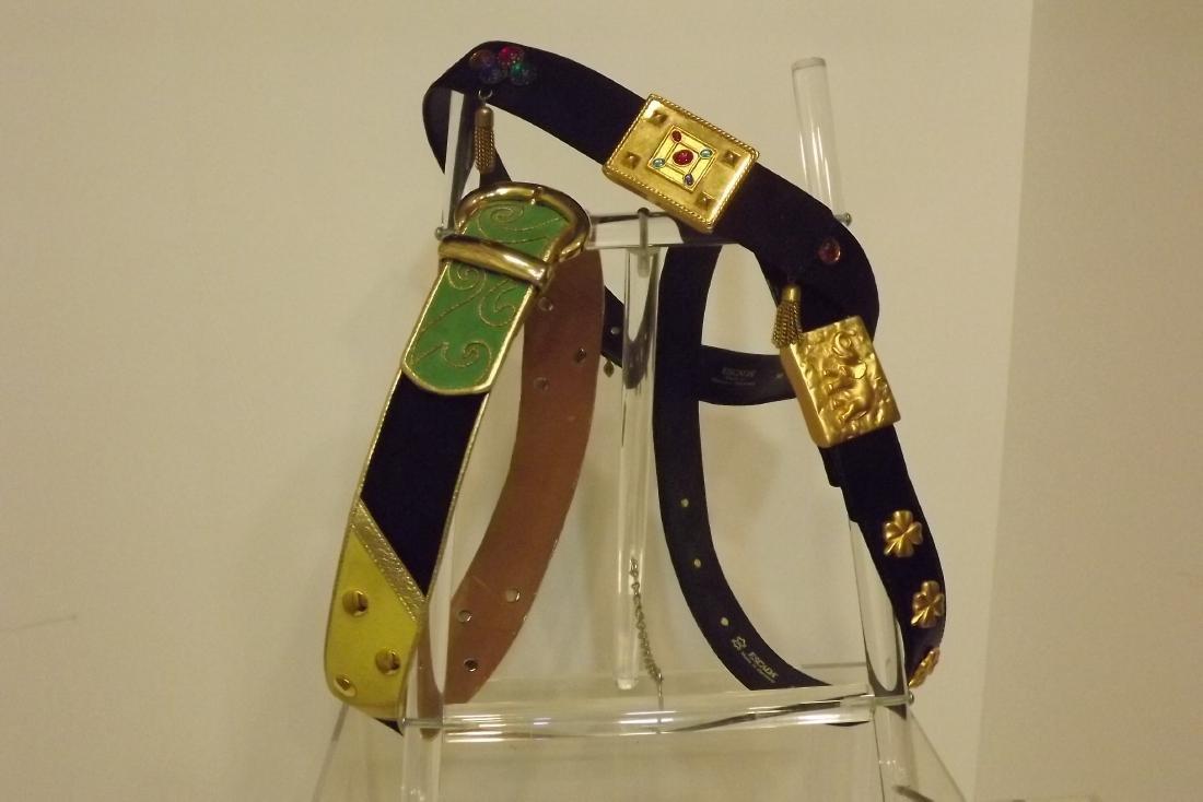3 Belts, Size 38, one Escada, One Louis Feraud