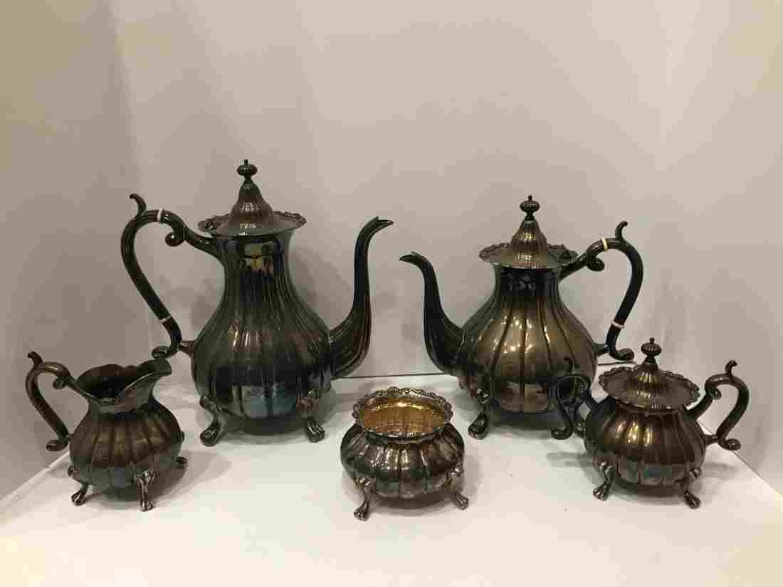 5 Piece Japanese Sterling Tea Service