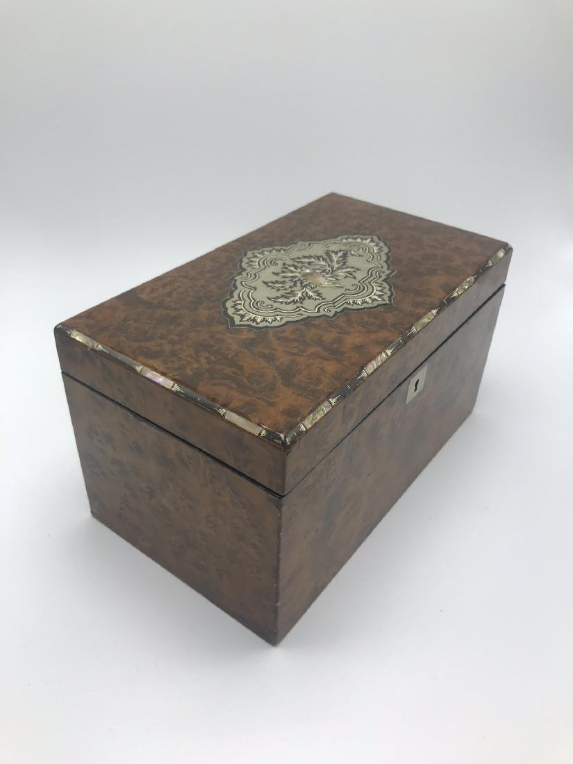 2 Compartment Men's Dresser Box with Mother of Pearl - 2