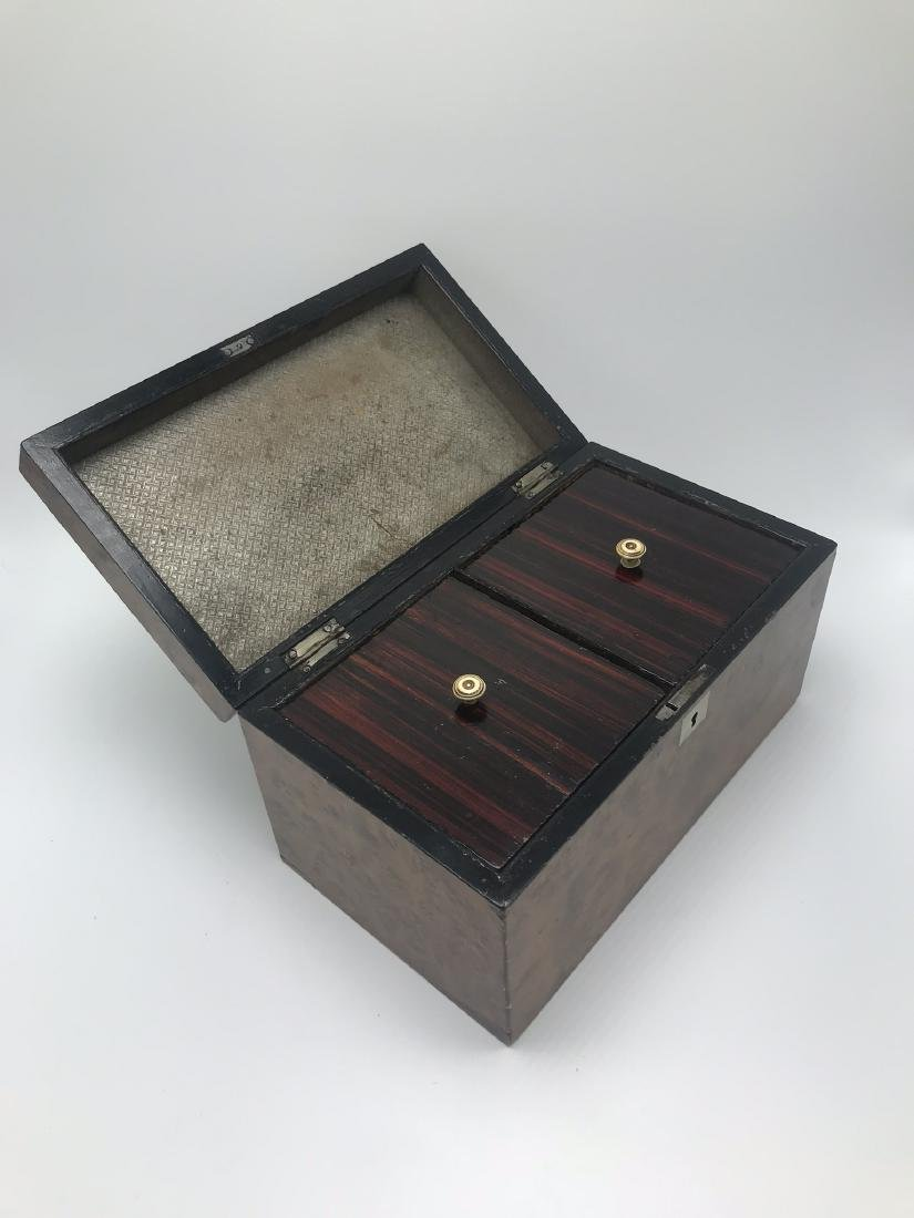 2 Compartment Men's Dresser Box with Mother of Pearl - 3