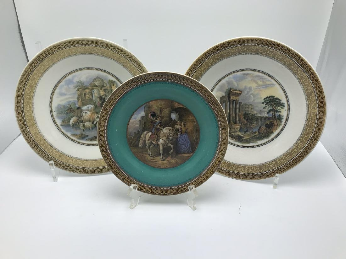 Lot of 3 Pratt ware Plates with Classical Scenes