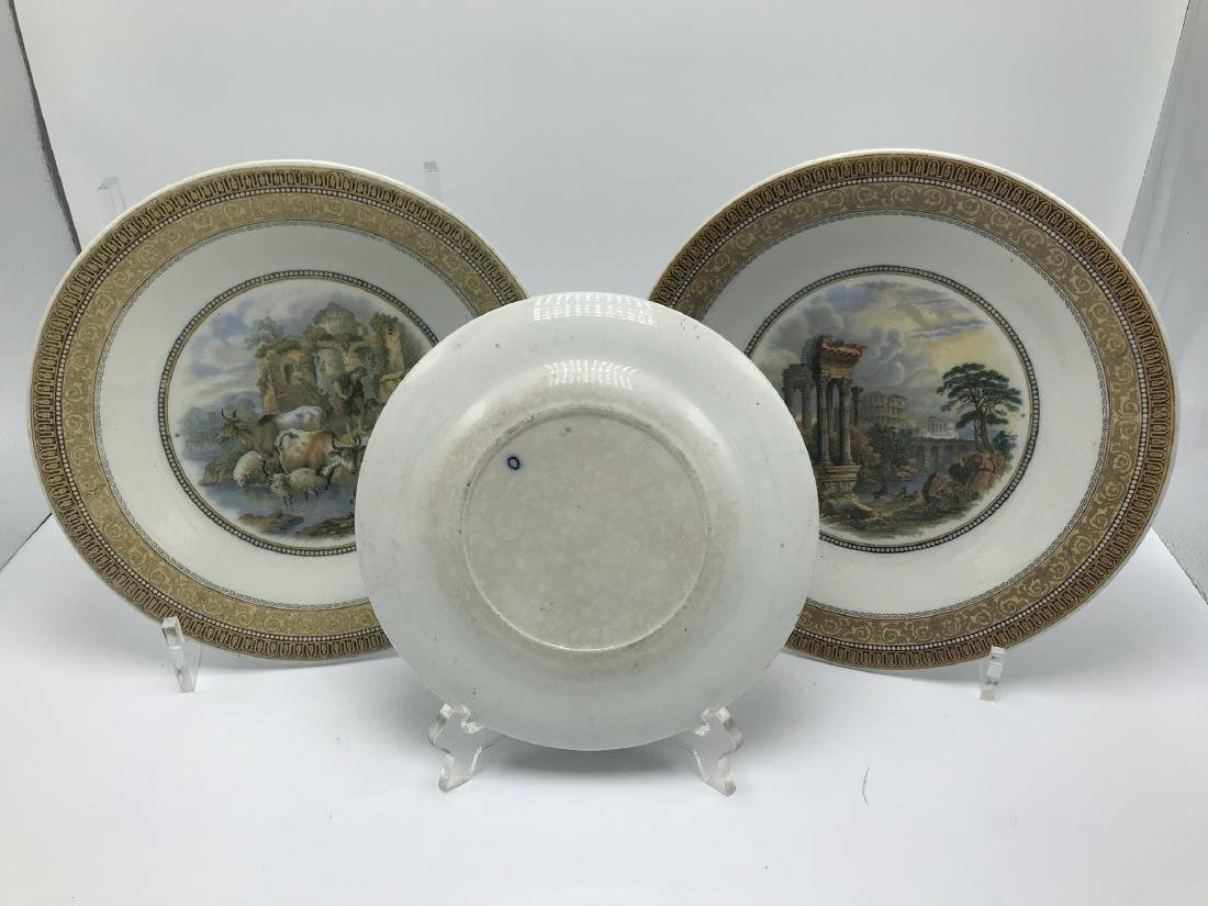 Lot of 3 Pratt ware Plates with Classical Scenes - 2