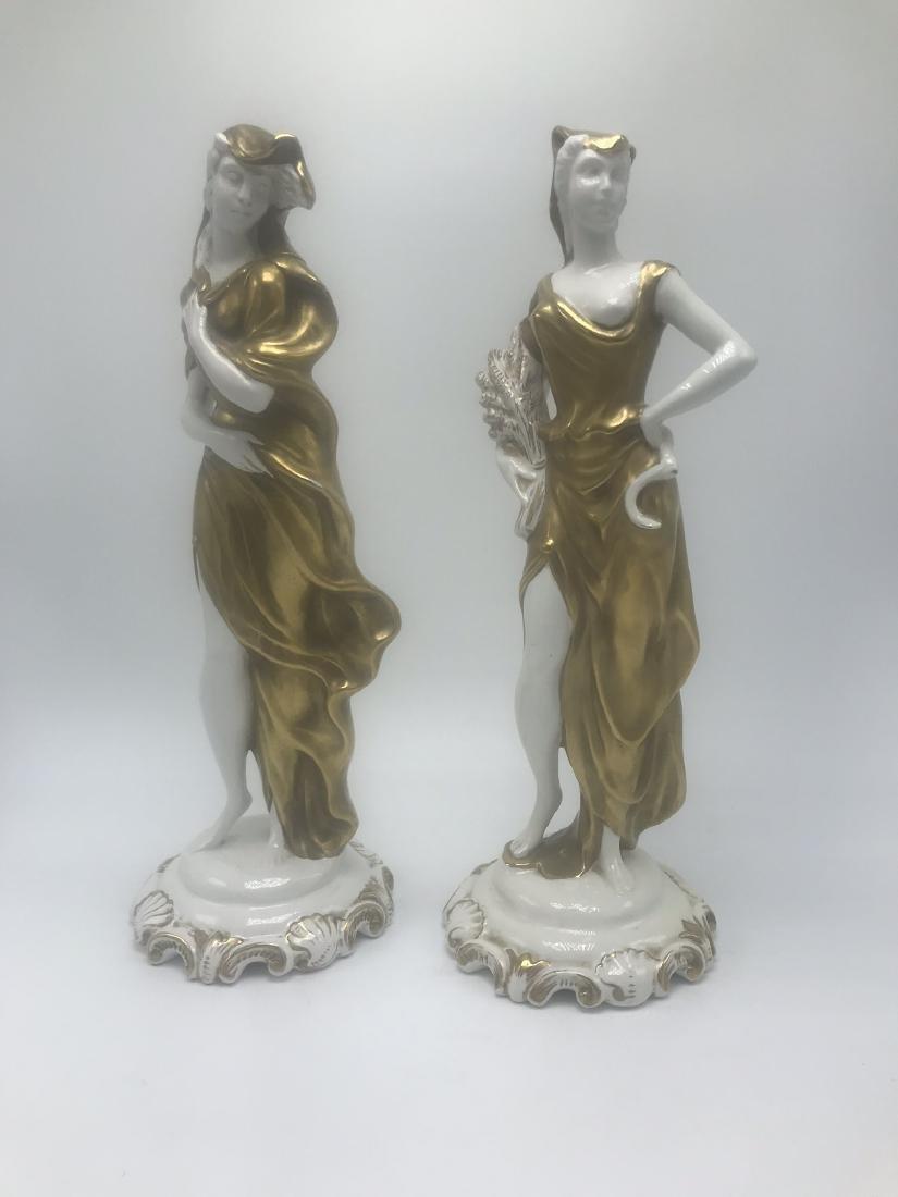 Pair Italian Porcelain Figures