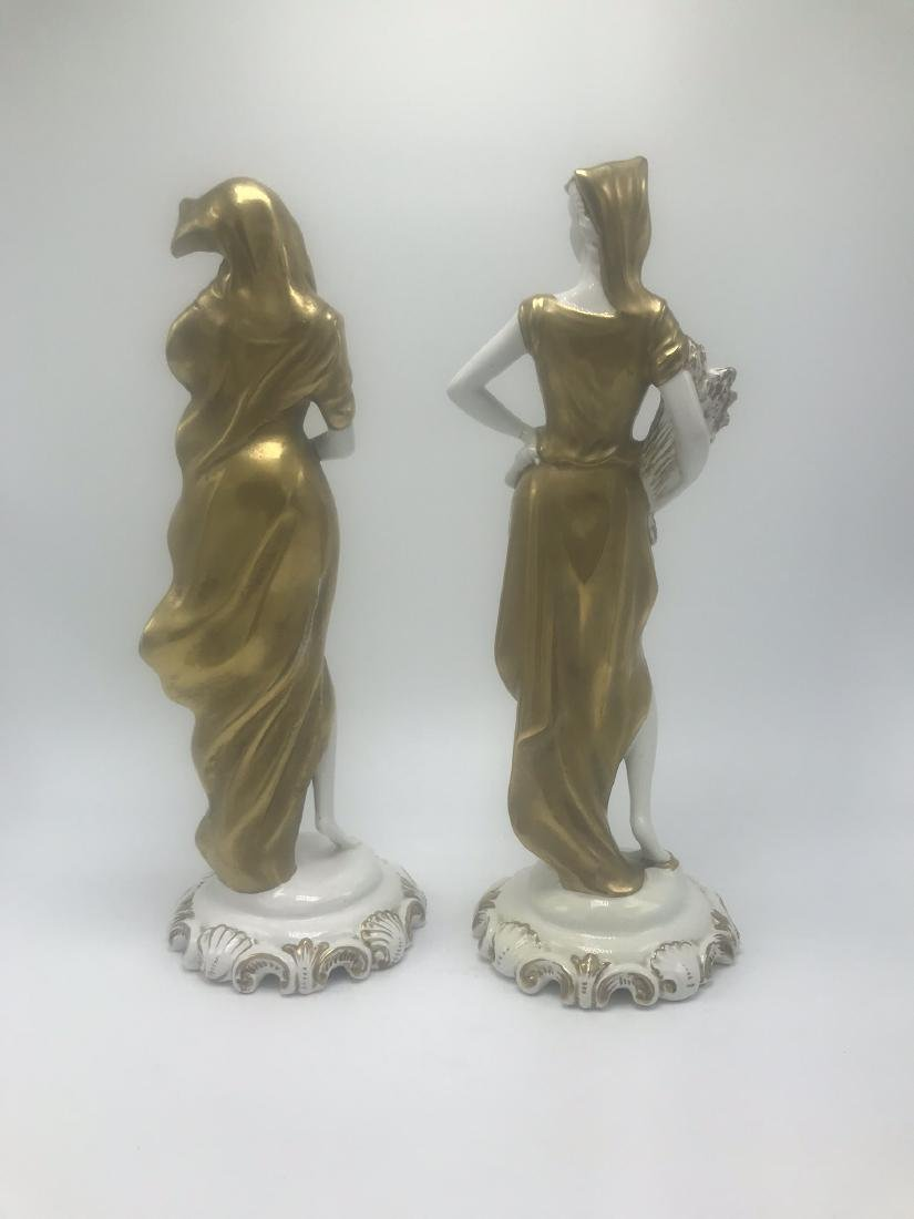 Pair Italian Porcelain Figures - 2