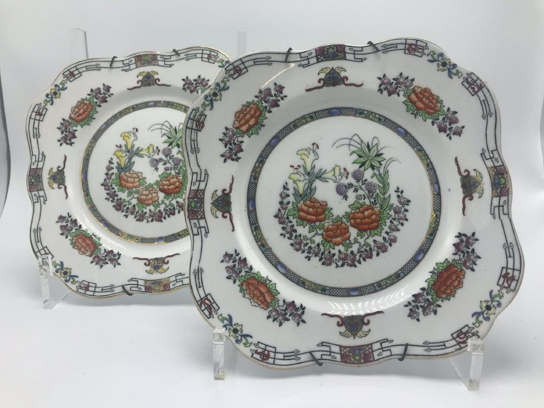Pair English Mikodo Plates
