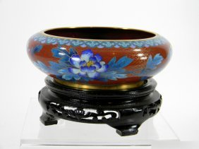 CLOISONNE BOWL ON STAND