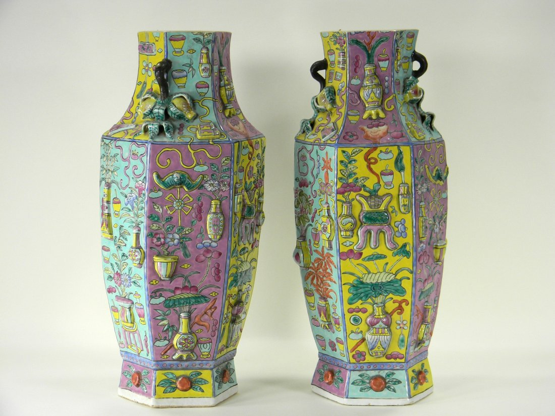 Pair of Vases. Last quarter of the 19th century Chinese