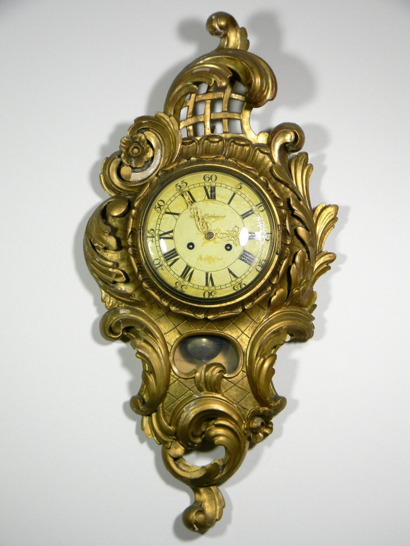 Gold leaf Louis XV style clock.