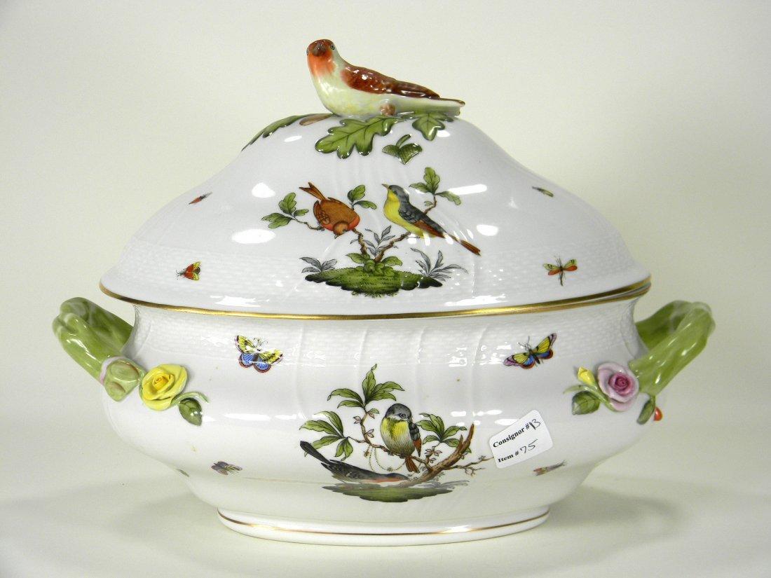 Large Herend Rothschild bird tureen.