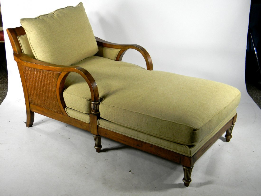 Upholstered Chaise Lounge in Island Tropical Style. 64""