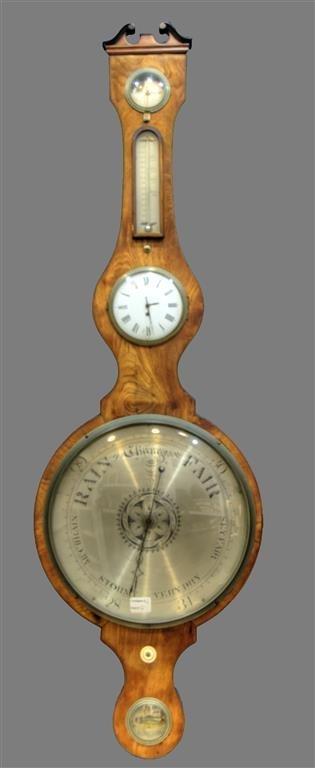 19TH C. Barometer, Banjo style