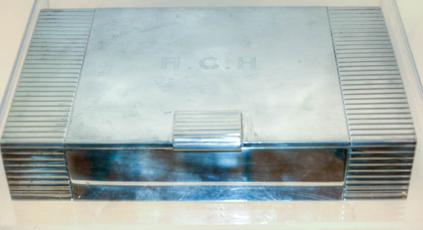 Cartier Treen Lined Sterling Silver Cigar Box