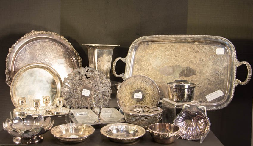 16 Pieces Silver Plate