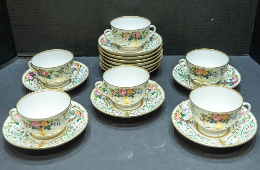 Baily Banks and Biddle Soup Cups and Saucers