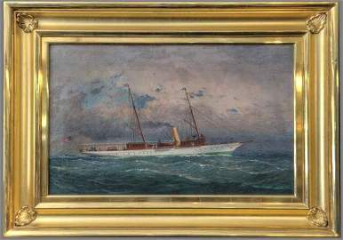 Painting of Sail/Steamship by Fred Pansing