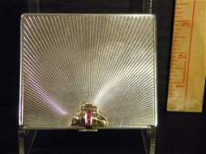 Cartier Paris Sterling and 14k Gold Cigarette Case with