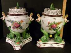 Continental or Possibly English PorcelainFruit Coolers