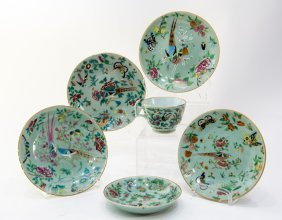 Celedon Porcelain - Bread And Butter, Single Cup And