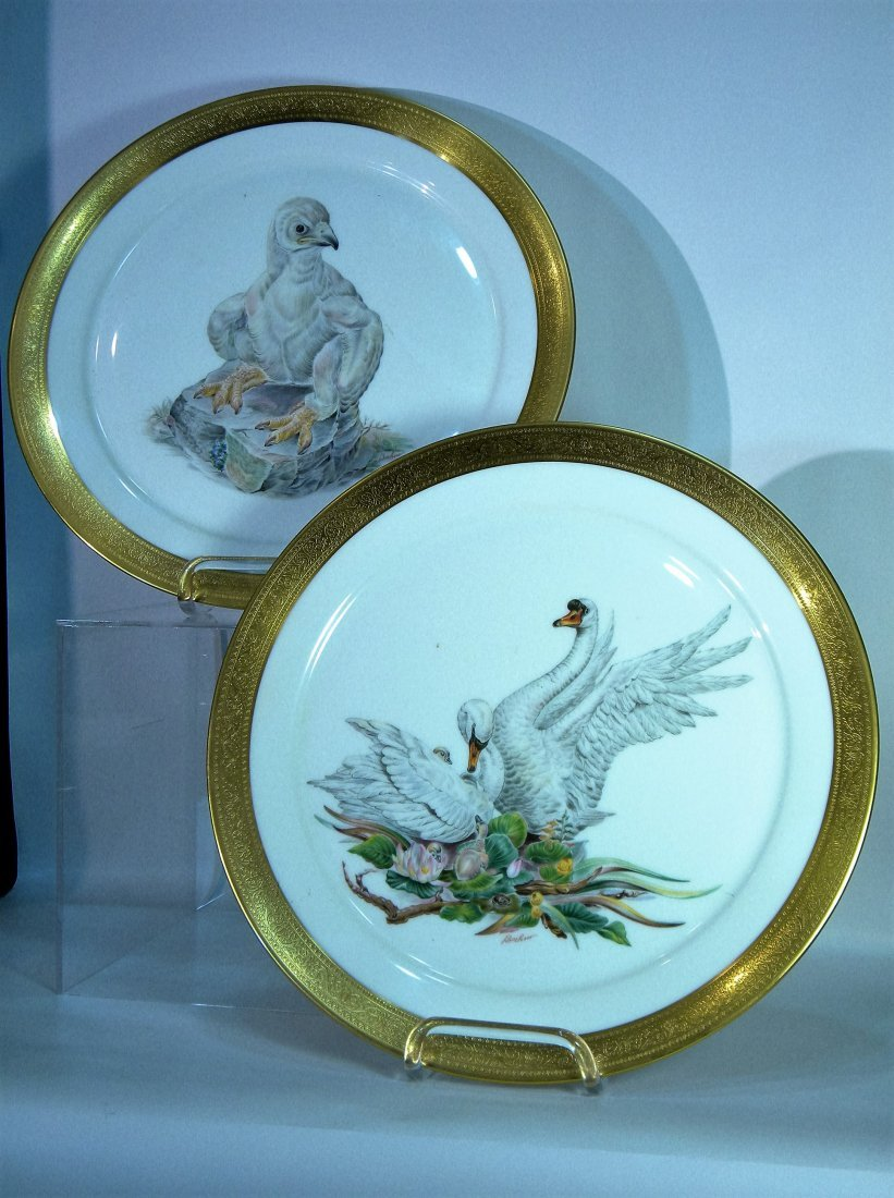 Pair of Boehm Plates, One Bird of Peace, One Young