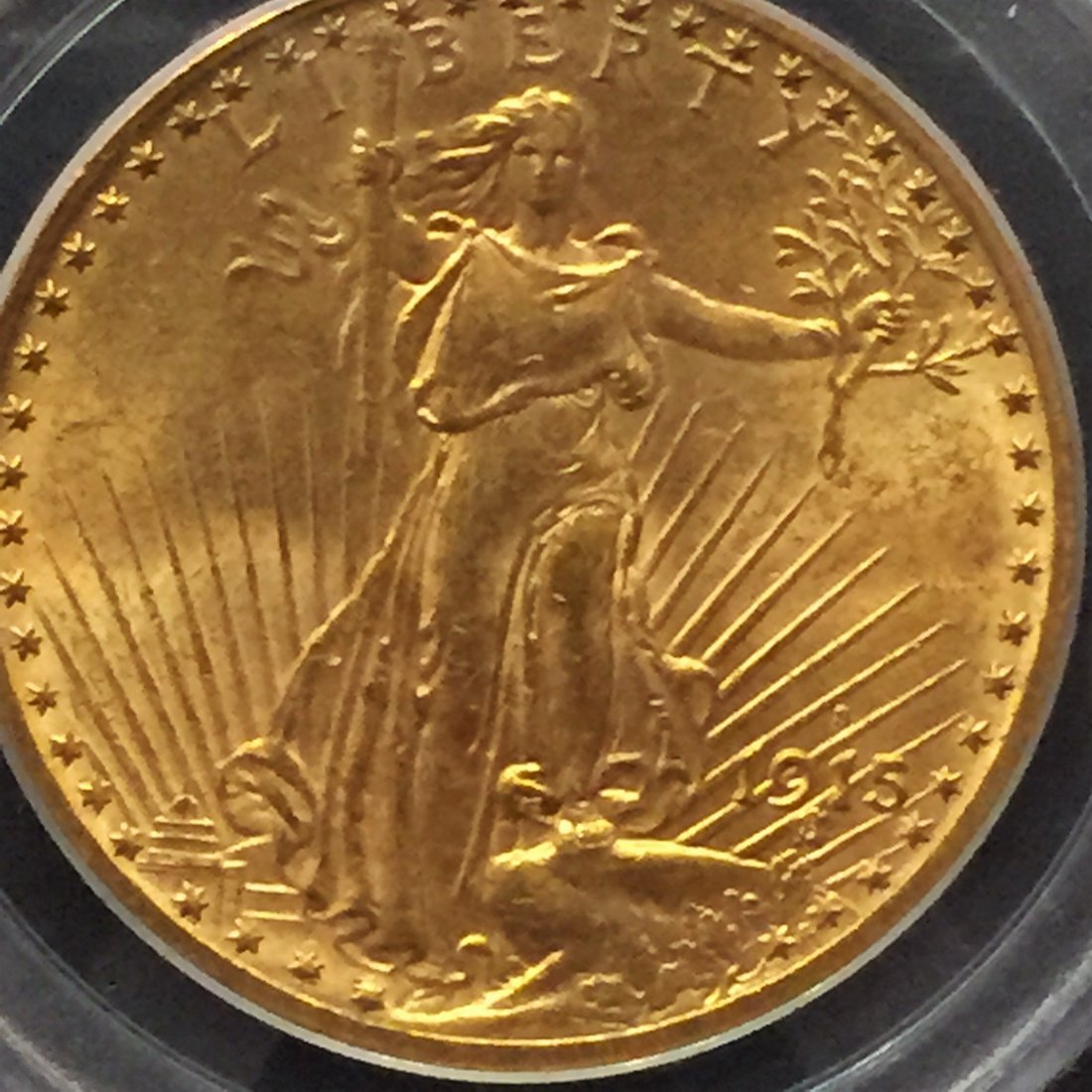 1915 $20 Gold Walking Liberty in AU58 Condition - 3
