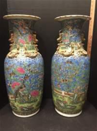 Pair of 19th century Rare Chinese Urns