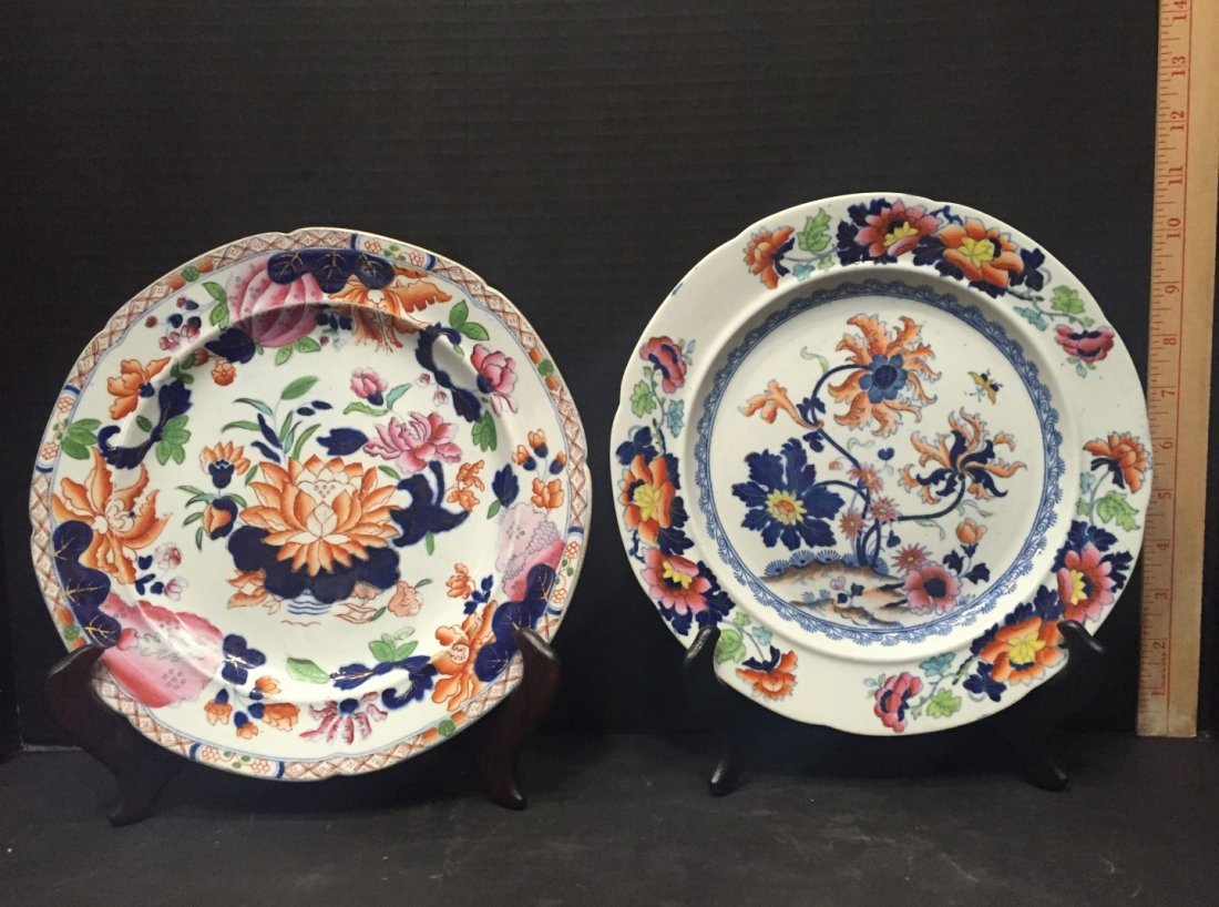 Two Ironstone Plates, One Warranted, One Stoke Works