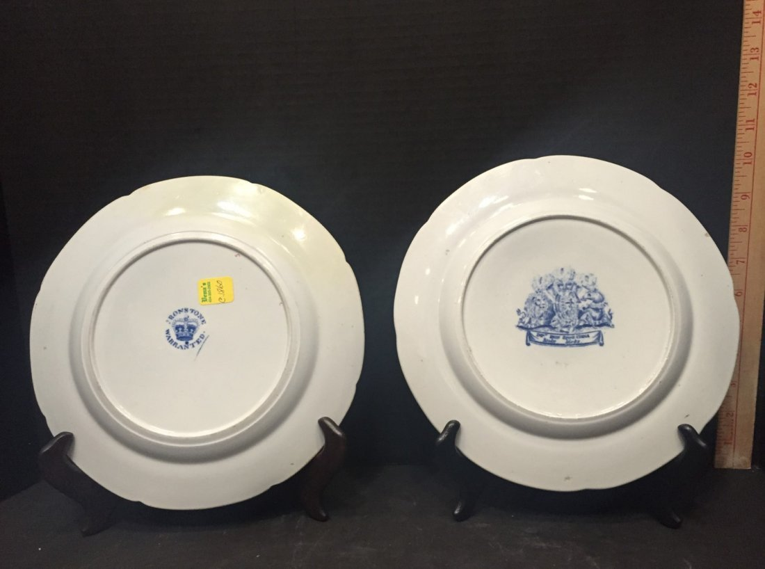 Two Ironstone Plates, One Warranted, One Stoke Works - 2