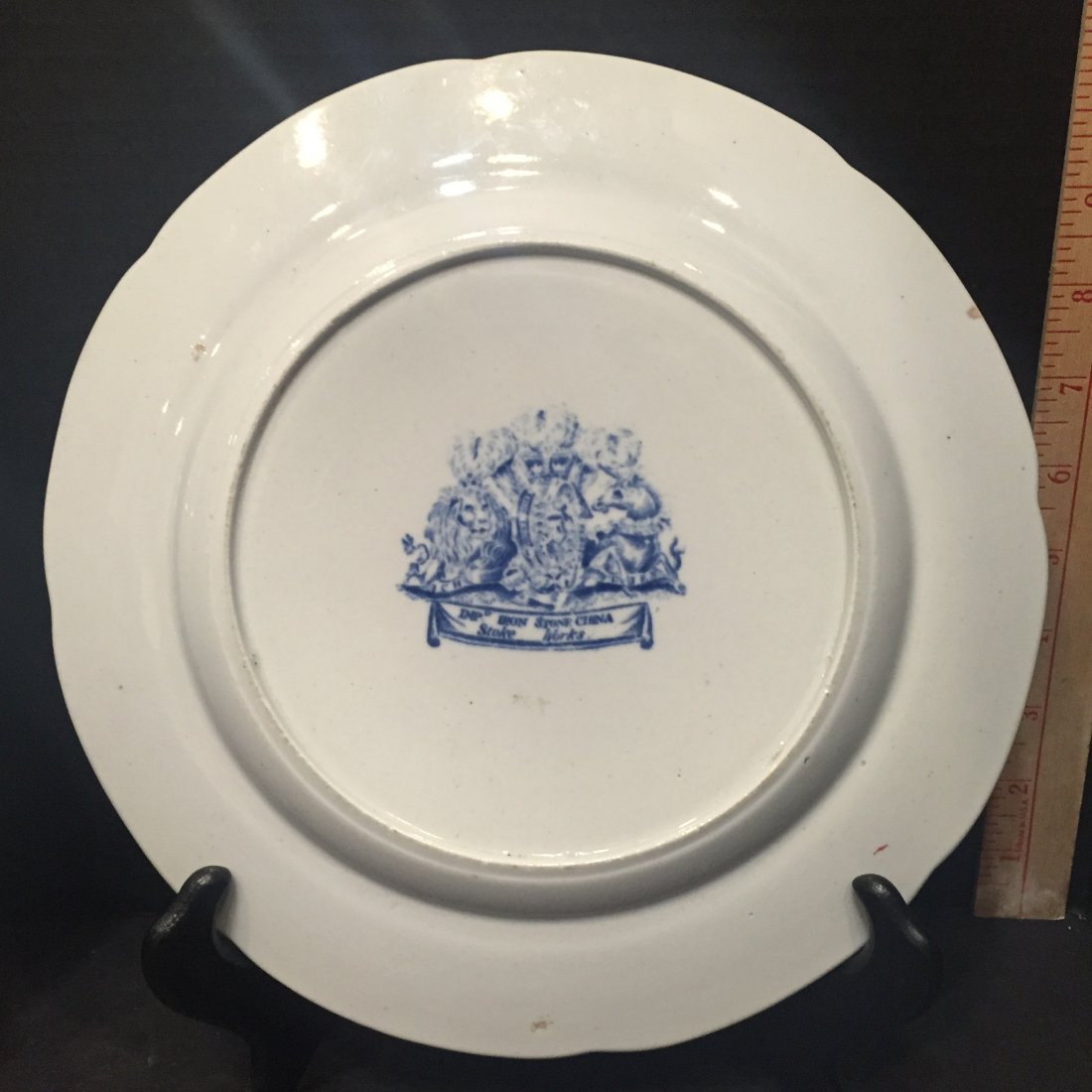Two Ironstone Plates, One Warranted, One Stoke Works - 3